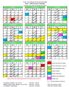 Updated Calendar 2017