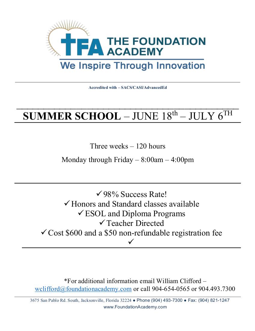 2018 Summer School Ad