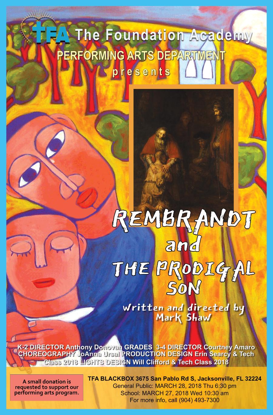 TFA Play Rembrandt & the Prodigal Son @ TFA Blackbox Theatre